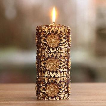 Novica Floral Pillar Candle Size: 8.25