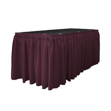 La Linen Table Skirt Color: Eggplant