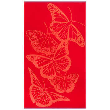 Alcott Hill Butterflies Beach Towel