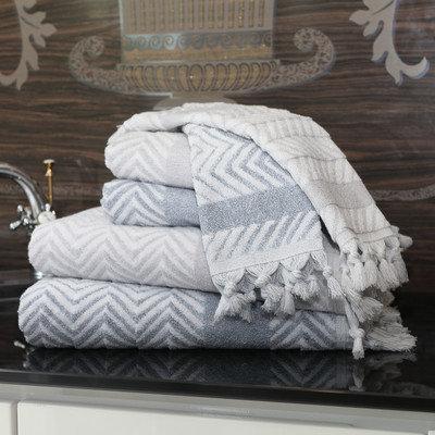 Linum Home Textiles Assos 6 Piece Towel Set Color: Dove Gray/Dusty Blue