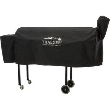 Traeger Hydrotuff Cover For Texas Pellet Grill On Cart With Cold Smoker