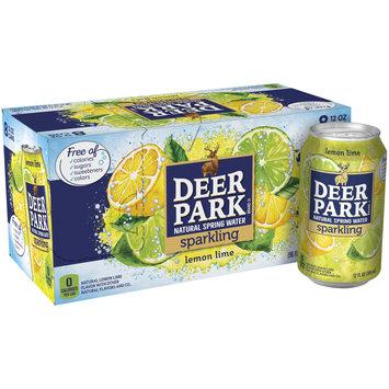 DEER PARK Lemon Lime Sparkling Natural Spring Water 12oz cans (Pack of 8)