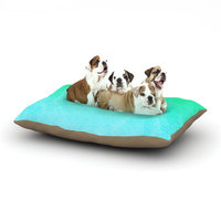 East Urban Home Monika Strigel 'Blue Hawaiian' Dog Pillow with Fleece Cozy Top Size: Large (50