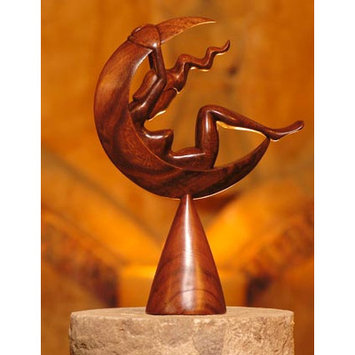 Novica Wayan Rendah Handcrafted Indonesian Wood Sculpture