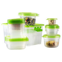 Wayfair Basics 54-Piece Plastic Food Storage Container Set Color: Green