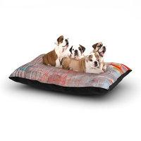 East Urban Home Iris Lehnhardt 'Mots de La Terre' Splatter Paint Dog Pillow with Fleece Cozy Top Size: Small (40