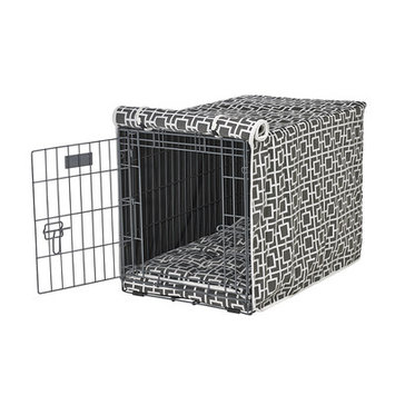 Bowsers Luxury Pet Crate Cover Courtyard Grey, Size: XX-Large
