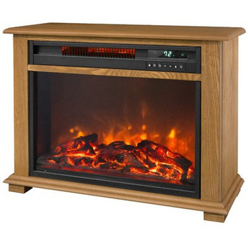 Lifesmart Portable Fireplace 1500 Watt Electric Infrared Cabinet Heater with Decorative Mantel Trim