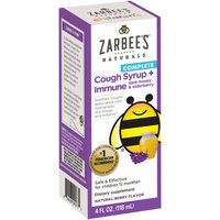 Zarbee's® Naturals Children's Complete Cough Syrup + Immune with Dark Honey & Elderberry, Natural Berry Flavor, 4 fl. oz. Box