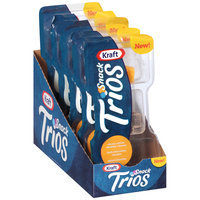 Kraft Cheddar Cheese/Semisweet Chocolate/Dried Cherries Snack Trios 1.5 oz. Tray