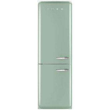 Smeg Pastel Green 11.7 Cu. Ft. Retro Refrigerator with Bottom Freezer - Left Hinge