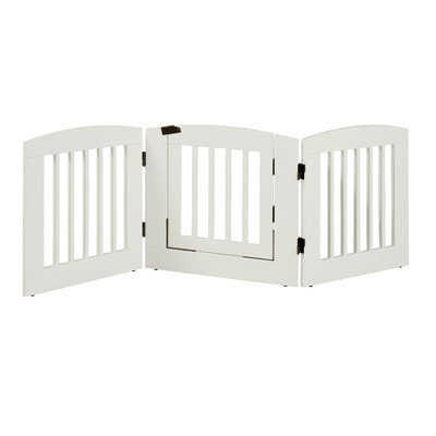 Camaflexi Ruffluv 3 Panel Expansion Dog Gate with Door Size: Medium (24