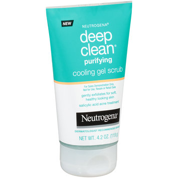 Neutrogena® Deep Clean® Purifying Cooling Gel Scrub 4.2 oz. Tube