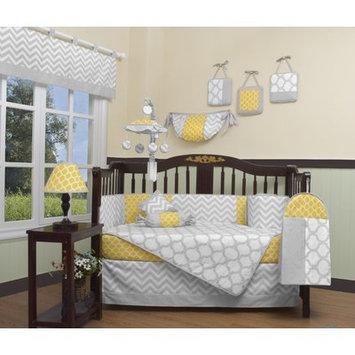 Geenny Chevron 13 Piece Crib Bedding Set Color: Yellow