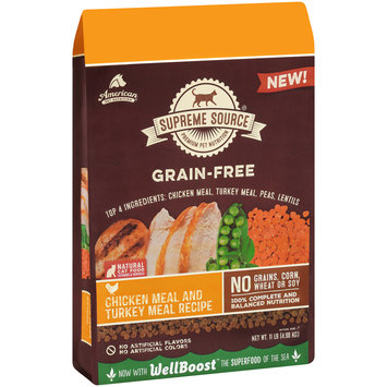 Supreme Source® Grain-Free Chicken Meal and Turkey Meal Recipe Cat Food 11 lb. Bag