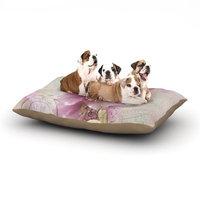 East Urban Home Sylvia Cook 'Hellabore' Petals Dog Pillow with Fleece Cozy Top Size: Small (40