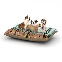 East Urban Home Iris Lehnhardt 'Between Times' Dog Pillow with Fleece Cozy Top Size: Small (40