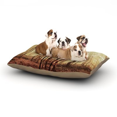 East Urban Home Iris Lehnhardt 'Autumn Again' Dog Pillow with Fleece Cozy Top Size: Small (40