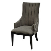 Crestview Collection Crestview Safari Two Toned Channel Back Chair