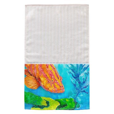Live Free Grouper in the Green Multi Face Hand Towel