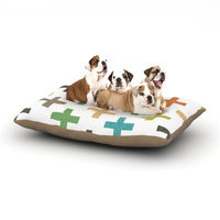 East Urban Home Daisy Beatrice 'Hipster Crosses' Dog Pillow with Fleece Cozy Top Size: Small (40