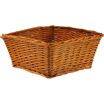 W.C. Redmon Large Willow Basket (Yellow)