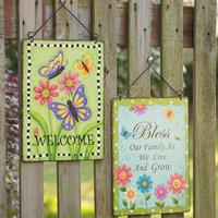 Glitzhome Handcrafted 2 Piece Garden Sign Set