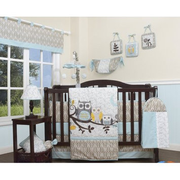 Geenny Enchanted Forest Owls Family 13 Piece Crib Bedding Set