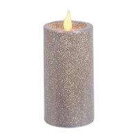 Mercer41 Glitter LED Pillar Flameless Candle Size: 6
