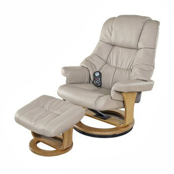 Red Barrel Studio Plush 8 Motor Leisure Massage Chair with Ottoman