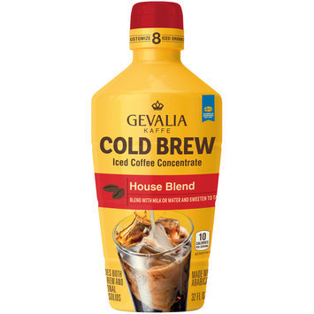 Gevalia Cold Brew House Blend Iced Coffee Concentrate 32 fl. oz. Bottle