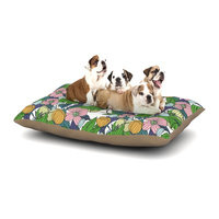 East Urban Home Catherine Holcombe 'Spring Foliage' Floral Pastels Dog Pillow with Fleece Cozy Top Size: Small (40