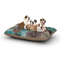 East Urban Home Heidi Jennings 'Atlantis' Dog Pillow with Fleece Cozy Top Size: Small (40