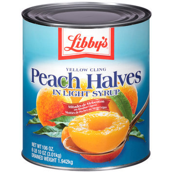 Libby's® Yellow Cling Peach Halves in Heavy Syrup 6.62 lb. Can