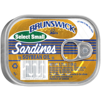 Brunswick® Select Small Sardines in Soybean Oil