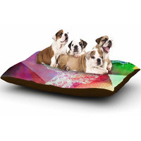 East Urban Home AlyZen Moonshadow 'Silhouette (Light)' Abstract Dog Pillow with Fleece Cozy Top