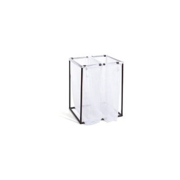 The Bag Stand Co Double Hamper with Bag Finish: Bronze