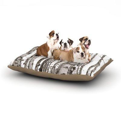 East Urban Home Monika Strigel 'Birchwood' Forest Dog Pillow with Fleece Cozy Top Size: Small (40
