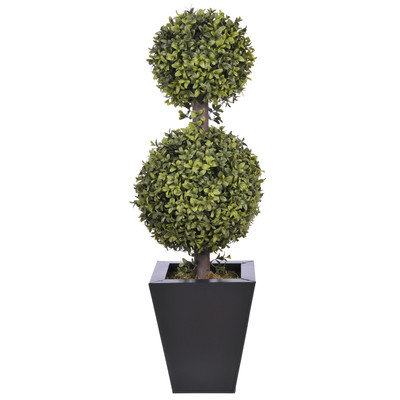 Mercury Row Double Ball Topiary in Pot Pot Size: 9