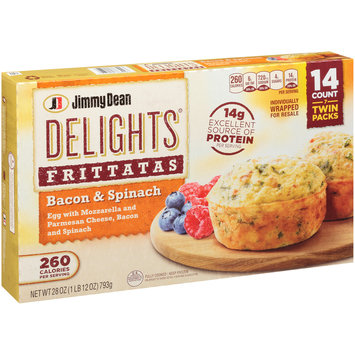 Jimmy Dean Delights® Bacon & Spinach Frittatas 28 oz. Box