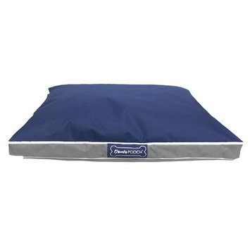 Wildon Home Abbot Bridge In/Outdoor Reversible Mat Color: Navy Blue / Gray, Size: Large (40