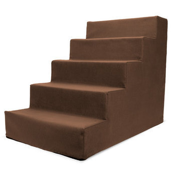 Precioustails Homebase High Density Foam 5 Step Pet Stair Color: Brown
