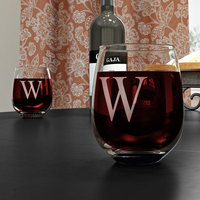 Cathys Concepts Personalized Stemless Red Wine Glasses (Set of 4)