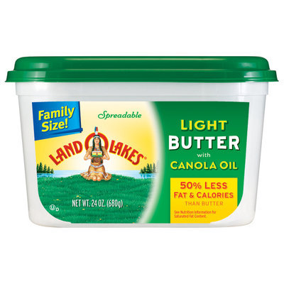 Land O'Lakes® Light Butter with Canola Oil 24 oz. Tub
