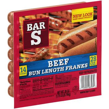 Bar-S® Beef Bun Length Franks 28 oz. Package