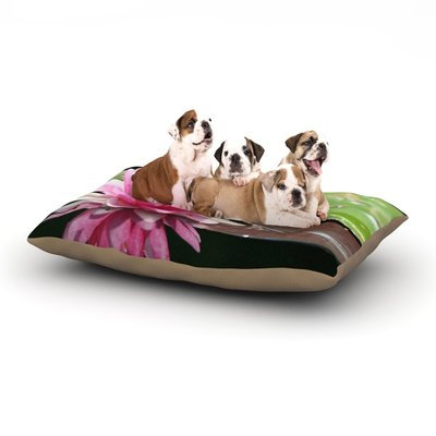 East Urban Home Angie Turner 'Water Lily' Dog Pillow with Fleece Cozy Top Size: Large (50