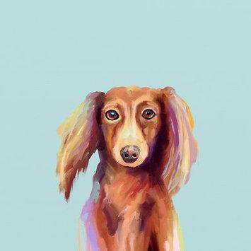 Ebern Designs Dachshund Dog Print on Wrapped Canvas Size: 10