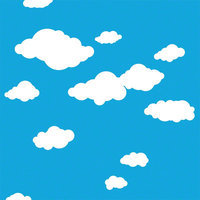 Wall Candy Arts WallCandy Arts Removable Wallpaper (Summer Clouds) - Full Kit