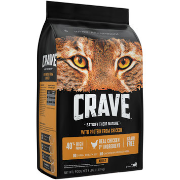Crave™ with Protein from Chicken Premium Adult Cat Food 4 lb. Bag