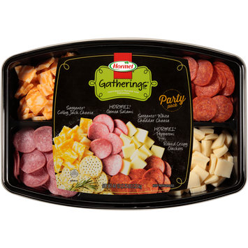 Hormel® Gatherings® Colby Jack Cheese/Genoa Salami/White Cheddar Cheese/Pepperoni Party Pack 44 oz. Tray
